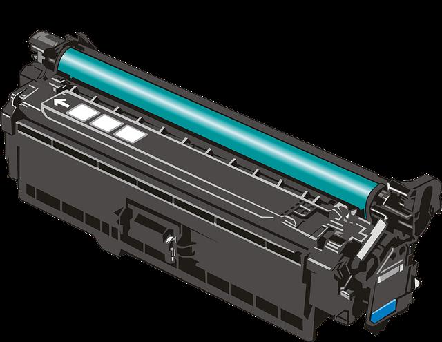 tóners de impresora vacíos