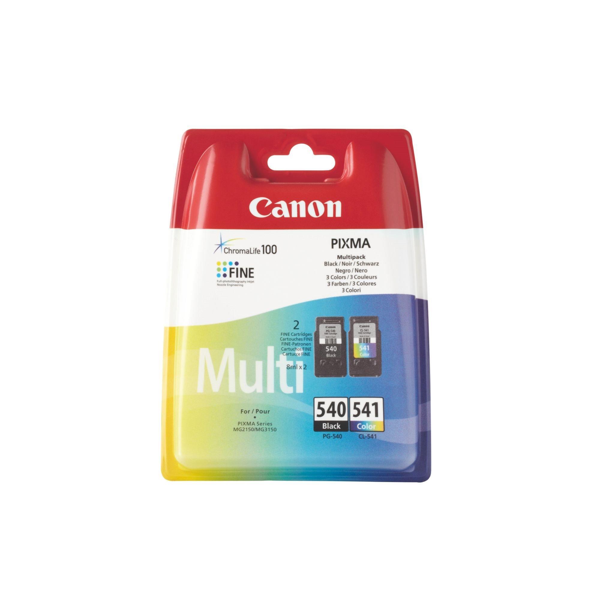Canon PG540 + CL541 Pack cartucho original negro + tricolor de alta capacidad (180 + 180 páginas)