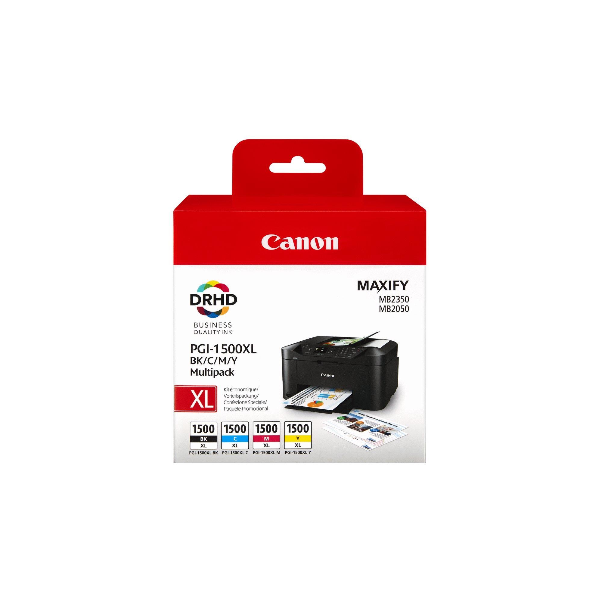 Canon PGI-1500XL / 9182B004 Pack Cartucho original negro + tricolor de capacidad estándar